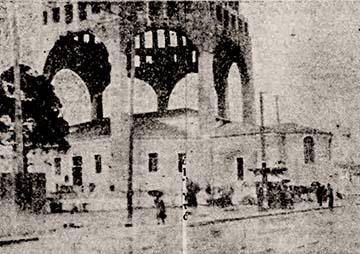 Άγιος Παντελεήμονας-τρούλος και προσωρινός ναός 1930.jpg